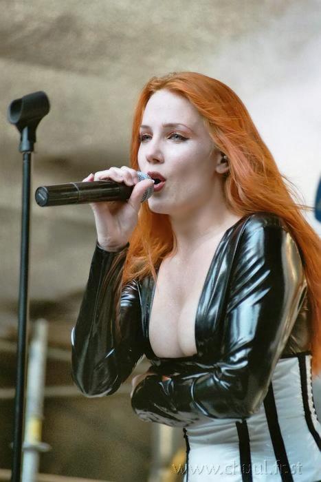 redhead, singer, simone simons, pictures, girl